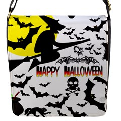 Happy Halloween Collage Flap Closure Messenger Bag (small) by StuffOrSomething