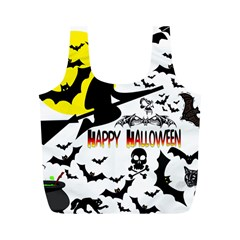 Happy Halloween Collage Reusable Bag (m) by StuffOrSomething