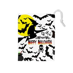 Happy Halloween Collage Drawstring Pouch (medium) by StuffOrSomething