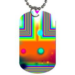 Crossroads Of Awakening, Abstract Rainbow Doorway  Dog Tag (two Sided)  by DianeClancy