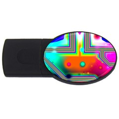 Crossroads Of Awakening, Abstract Rainbow Doorway  4gb Usb Flash Drive (oval) by DianeClancy