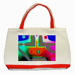 Crossroads Of Awakening, Abstract Rainbow Doorway  Classic Tote Bag (red) by DianeClancy
