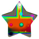 Crossroads Of Awakening, Abstract Rainbow Doorway  Star Ornament (Two Sides) Front