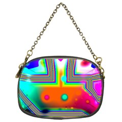 Crossroads Of Awakening, Abstract Rainbow Doorway  Chain Purse (two Sided)  by DianeClancy