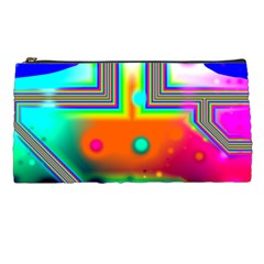 Crossroads Of Awakening, Abstract Rainbow Doorway  Pencil Case by DianeClancy