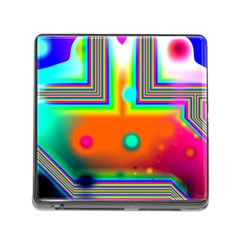 Crossroads Of Awakening, Abstract Rainbow Doorway  Memory Card Reader With Storage (square) by DianeClancy