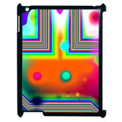 Crossroads Of Awakening, Abstract Rainbow Doorway  Apple Ipad 2 Case (black) by DianeClancy
