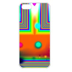 Crossroads Of Awakening, Abstract Rainbow Doorway  Apple Iphone 5 Seamless Case (white) by DianeClancy