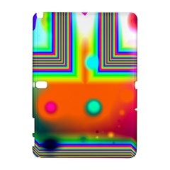 Crossroads Of Awakening, Abstract Rainbow Doorway  Samsung Galaxy Note 10 1 (p600) Hardshell Case by DianeClancy