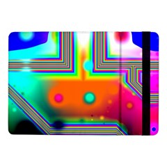 Crossroads Of Awakening, Abstract Rainbow Doorway  Samsung Galaxy Tab Pro 10 1  Flip Case by DianeClancy