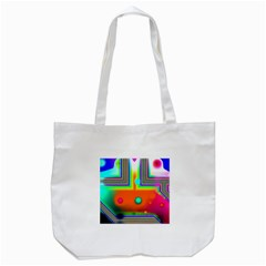 Crossroads Of Awakening, Abstract Rainbow Doorway  Tote Bag (white) by DianeClancy