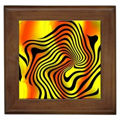 Colored Zebra Framed Ceramic Tile by Colorfulart23