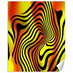 Colored Zebra Canvas 11  X 14  (unframed) by Colorfulart23