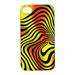 Colored Zebra Apple Iphone 4/4s Hardshell Case With Stand by Colorfulart23