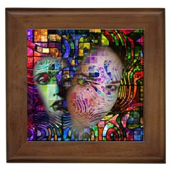 Artistic Confusion Of Brain Fog Framed Ceramic Tile by FunWithFibro