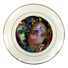 Artistic Confusion Of Brain Fog Porcelain Display Plate by FunWithFibro