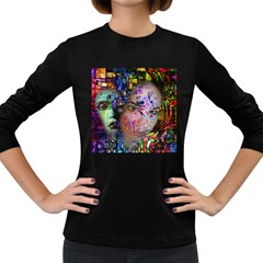 Artistic Confusion Of Brain Fog Women s Long Sleeve T-shirt (dark Colored) by FunWithFibro