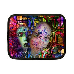 Artistic Confusion Of Brain Fog Netbook Sleeve (small) by FunWithFibro