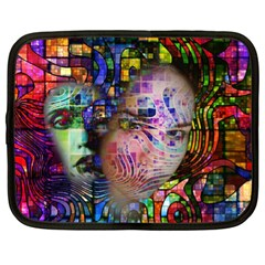 Artistic Confusion Of Brain Fog Netbook Sleeve (xl) by FunWithFibro