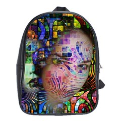 Artistic Confusion Of Brain Fog School Bag (large) by FunWithFibro