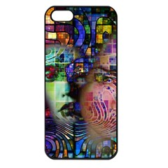 Artistic Confusion Of Brain Fog Apple Iphone 5 Seamless Case (black) by FunWithFibro