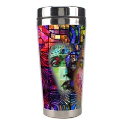 Artistic Confusion Of Brain Fog Stainless Steel Travel Tumbler by FunWithFibro
