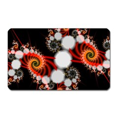 Mysterious Dance In Orange, Gold, White In Joy Magnet (rectangular) by DianeClancy