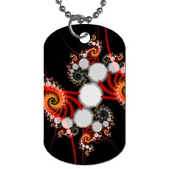 Mysterious Dance In Orange, Gold, White In Joy Dog Tag (two Sided)  by DianeClancy