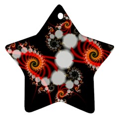 Mysterious Dance In Orange, Gold, White In Joy Star Ornament (two Sides) by DianeClancy