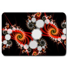 Mysterious Dance In Orange, Gold, White In Joy Large Door Mat by DianeClancy