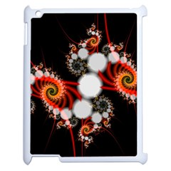 Mysterious Dance In Orange, Gold, White In Joy Apple Ipad 2 Case (white) by DianeClancy
