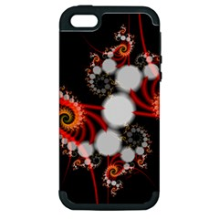 Mysterious Dance In Orange, Gold, White In Joy Apple Iphone 5 Hardshell Case (pc+silicone) by DianeClancy