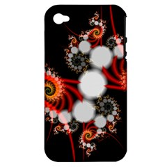 Mysterious Dance In Orange, Gold, White In Joy Apple Iphone 4/4s Hardshell Case (pc+silicone) by DianeClancy