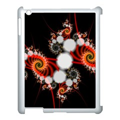 Mysterious Dance In Orange, Gold, White In Joy Apple Ipad 3/4 Case (white) by DianeClancy