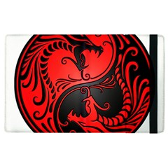 Yin Yang Dragons Red And Black Apple Ipad 3/4 Flip Case by JeffBartels
