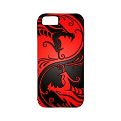 Yin Yang Dragons Red And Black Apple Iphone 5 Classic Hardshell Case (pc+silicone) by JeffBartels