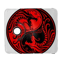 Yin Yang Dragons Red And Black Samsung Galaxy S  Iii Flip 360 Case by JeffBartels