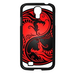 Yin Yang Dragons Red And Black Samsung Galaxy S4 I9500/ I9505 Case (black) by JeffBartels