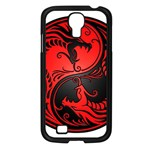 Yin Yang Dragons Red and Black Samsung Galaxy S4 I9500/ I9505 Case (Black) Front