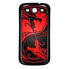 Yin Yang Dragons Red And Black Samsung Galaxy S3 Back Case (black) by JeffBartels