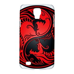 Yin Yang Dragons Red And Black Samsung Galaxy S4 Active (i9295) Hardshell Case by JeffBartels
