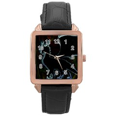 Dragon Aura Rose Gold Leather Watch  by StuffOrSomething