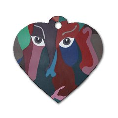 Abstract God Pastel Dog Tag Heart (two Sided) by AlfredFoxArt
