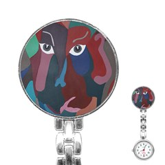 Abstract God Pastel Stainless Steel Nurses Watch by AlfredFoxArt