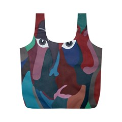 Abstract God Pastel Reusable Bag (m) by AlfredFoxArt