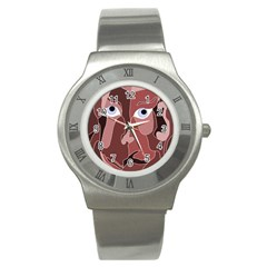 Abstract God Lilac Stainless Steel Watch (slim)
