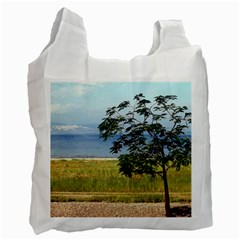 Sea Of Galilee White Reusable Bag (two Sides)