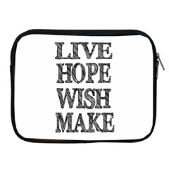 Live Hope Wish Make Apple Ipad Zippered Sleeve by AlfredFoxArt