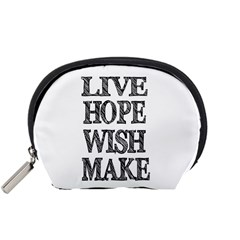Live Hope Wish Make Accessory Pouch (small) by AlfredFoxArt