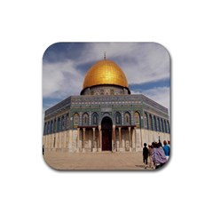 The Dome Of The Rock  Drink Coaster (square) by AlfredFoxArt